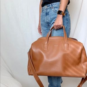 Vegan Leather Weekender duffle bag